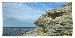 Bath Towel featuring the photograph Limestone Cliffs by Kennerth and Birgitta Kullman