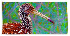 Bath Towel featuring the digital art Limpkin II by David Mckinney