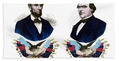 Lincoln And Johnson Campaign Poster Bath Towel