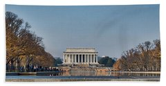 Lincoln From Afar Hand Towel