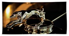 Lincoln Greyhound Hood Ornament Hand Towel