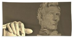 Lincoln Head And Hand Hand Towel