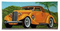 Lincoln K Convertible 1935 Painting Hand Towel
