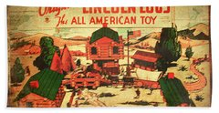 Lincoln Logs Retro Bath Towel