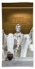 Lincoln Memorial 2 Hand Towel
