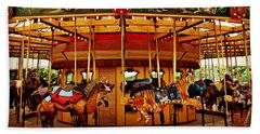 Lincoln Park Zoo Merry-go-round Bath Towel