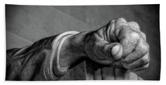Lincoln's Left Hand B-w Hand Towel