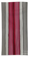 Bath Towel featuring the painting Lines by Jacqueline Athmann