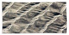 Lines On The Beach Bath Towel