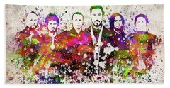 Linkin Park In Color Hand Towel