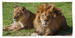 Lion And Lioness Bath Towel