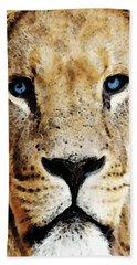 Lion Art - Blue Eyed King Hand Towel