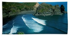 Lion Beach Piha New Zealand Hand Towel