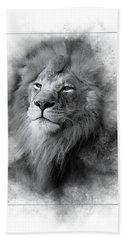 Lion Black White Bath Towel