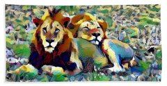 Lion Buddies Hand Towel