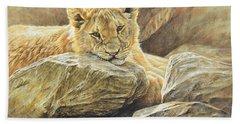 Lion Cub Study Hand Towel