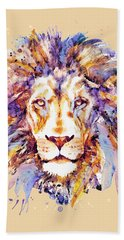 Lion Head Hand Towel by Marian Voicu