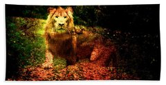 Lion In The Wilderness Bath Towel