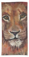 Lion Bath Towel by Jessmyne Stephenson