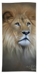Lion Hand Towel by Lena Auxier