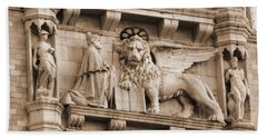 Lion Of Venice With The Doge Hand Towel