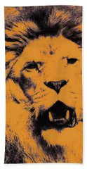 Lion Pop Art Hand Towel