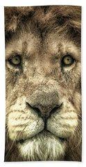 Lion Portrait Bath Towel