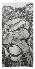 Lion Sketch  Bath Towel