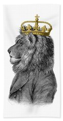 Lion The King Of The Jungle Hand Towel