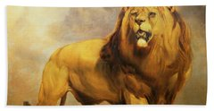 Lion  Hand Towel by William Huggins