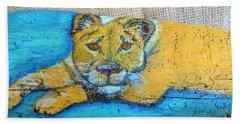 Lioness Hand Towel by Ann Michelle Swadener