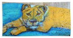 Lioness Bath Towel by Ann Michelle Swadener