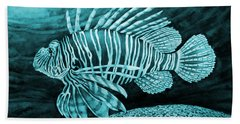 Lionfish On Blue Hand Towel