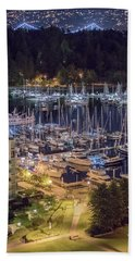 Lions Gate Bridge And Stanley Park Bath Towel by Ross G Strachan