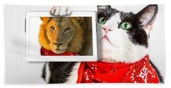 Lions Heart Cat Bath Towel
