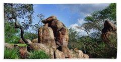 Lions On The Rock Bath Towel