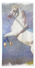 Lipizzaner Stallion Square Hand Towel
