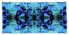 Hand Towel featuring the digital art Liquid Abstract #0059-1 by Barbara Tristan