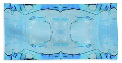 Hand Towel featuring the digital art Liquid Abstract  #0059-2 by Barbara Tristan