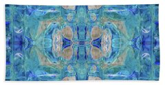 Hand Towel featuring the digital art Liquid Abstract  #0060-1 by Barbara Tristan