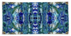 Hand Towel featuring the digital art Liquid Abstract #0061-2 by Barbara Tristan