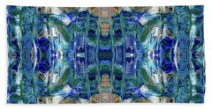 Hand Towel featuring the digital art Liquid Abstract #0061_1 by Barbara Tristan