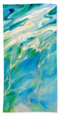 Hand Towel featuring the painting Liquid Assets by Dina Dargo