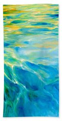 Hand Towel featuring the painting Liquid Gold by Dina Dargo