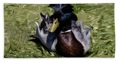 Liquid Mallard Bath Towel