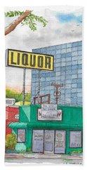 Liquor For Lease In Burbank, California Bath Towel