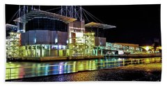 Lisbon - Portugal - Oceanarium At Night Bath Towel