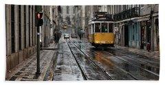 Bath Towel featuring the photograph Lisbon Streets by Jorge Maia