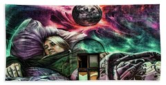 Lithuanian Street Art Bath Towel
