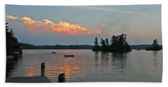 Little Bald Lake Bath Towel by Barbara McMahon